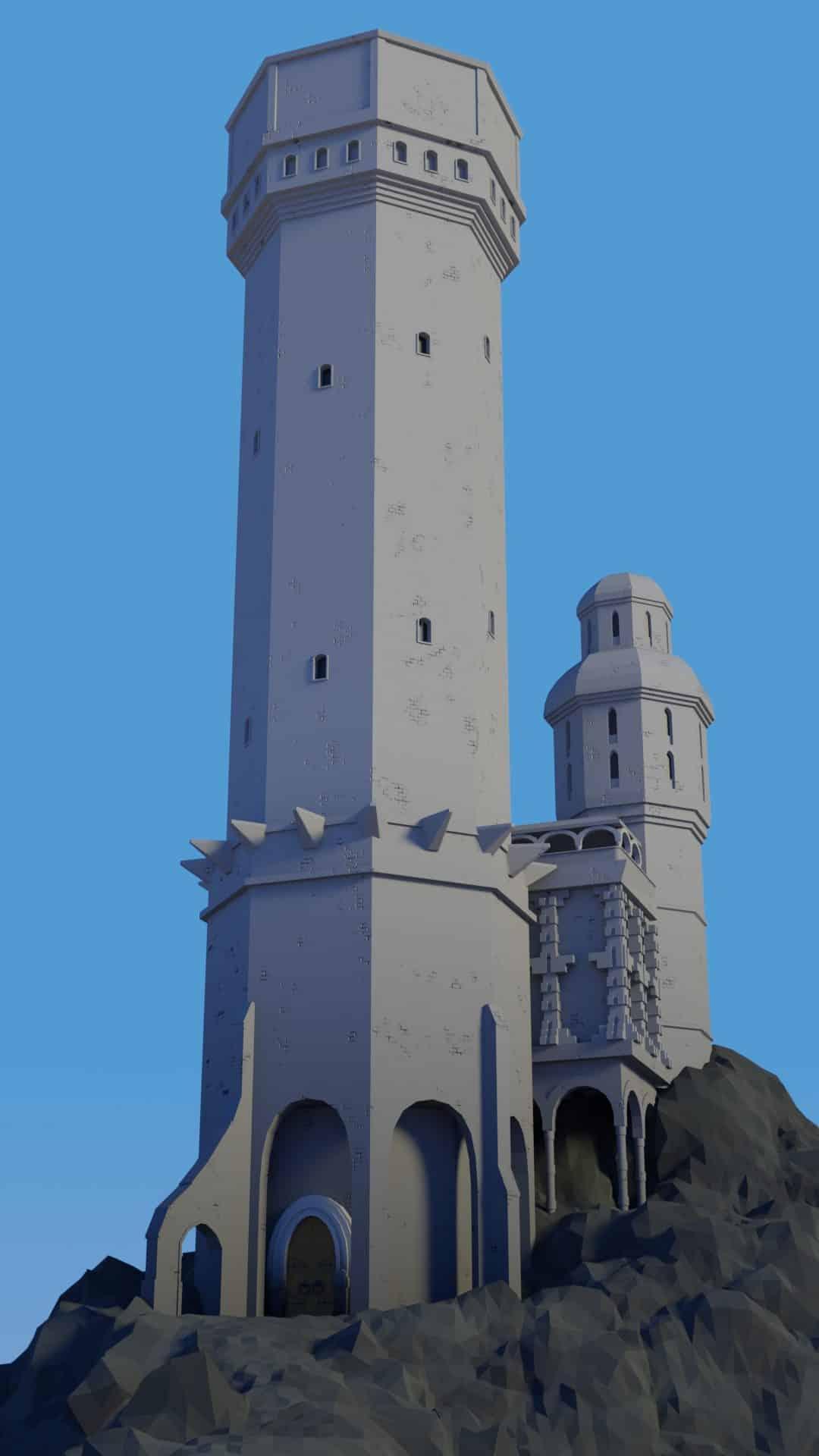 Etape 7 de l'image de Tour médiévale