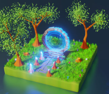 Portail magique de la forêt